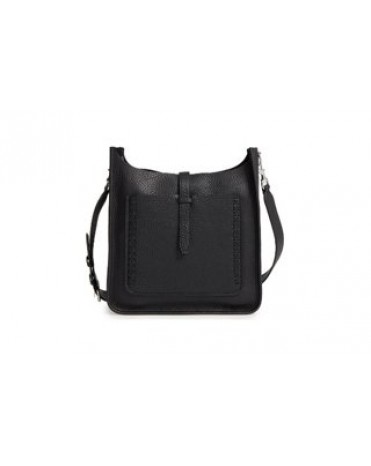 Rebecca Minkoff Small Unlined Feed Bag (black whipstitch) 女裝手袋 斜揹袋 HSP7EUWX92-001