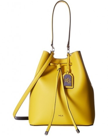 Ralph Lauren Leather Debby Drawstring Bag 女裝皮革束帶手袋 水桶包 (黃色)  LAU-431617297-011