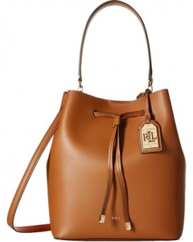 Ralph Lauren Leather Debby Drawstring Bag 女裝皮革束帶手袋 水桶包 (啡色)  LAU-431617297-002
