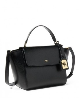 Ralph Lauren Leather Barclay Crossbody Bag 女裝皮革斜挎包 (黑色) LAU-431644275-001