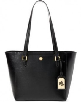 Ralph Lauren Halee II Saffiano Shopper Bag 女裝購物包 托特包 手袋 (黑色) LAU-431644323-001