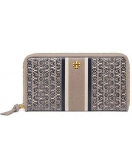 Tory Burch GEMINI LINK ZIP CONTINENTAL WALLET 女裝拉鍊長銀包 錢包 (法國灰色) TB34401-051