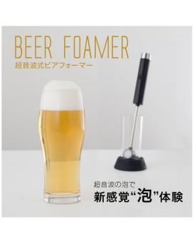 日本GreenHouse GH-BEERJ-BK 超音波啤酒打泡器 輕巧版