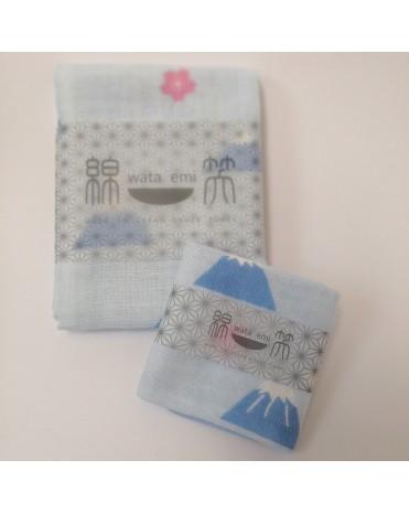 日本製 JOGAN 二重紗巾優惠套裝 WESF (藍色)