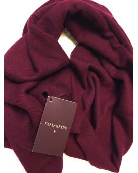 BALLANTYNE 100% Cashmere 純羊絨頸巾(深紅色) D19BALL0003-W-1-12018RED