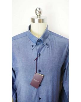 BALLANTYNE Regular Style 男士正式襯衫 U12BALL0003-SHI-M-01-13819BLU