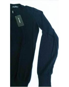 意大利 D&G Dolce & Gabbana 高級純羊絨100% Cashmere 女裝毛衣 SD11DG0001-F-01-BLU
