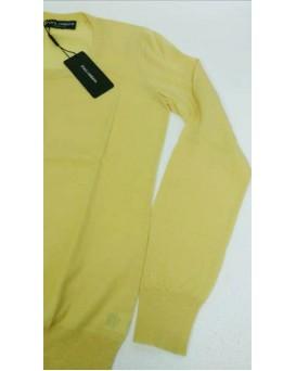 意大利 D&G Dolce & Gabbana 高級純羊絨100% Cashmere 女裝毛衣 SD11DG0001-F-01-GIALLO