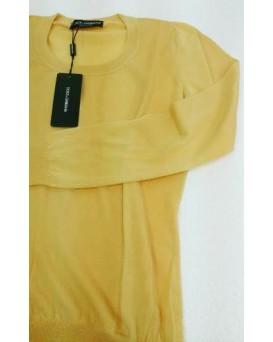 意大利 D&G Dolce & Gabbana 高級純羊絨100% Cashmere 女裝毛衣 SD11DG0001-F-01-OCRA