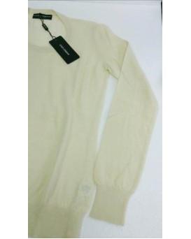 意大利 D&G Dolce & Gabbana 高級純羊絨100% Cashmere 女裝毛衣 SD11DG0001-F-01-PANNA
