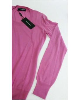 意大利 D&G Dolce & Gabbana 高級純羊絨100% Cashmere 女裝毛衣 SD11DG0001-F-01-ROSA