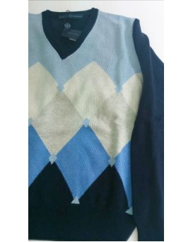 Roberto Capucci 高雅優質羊絨/羔羊毛男士毛衣 U11CAP0003-SWE-M-01-901AZZ/GRI